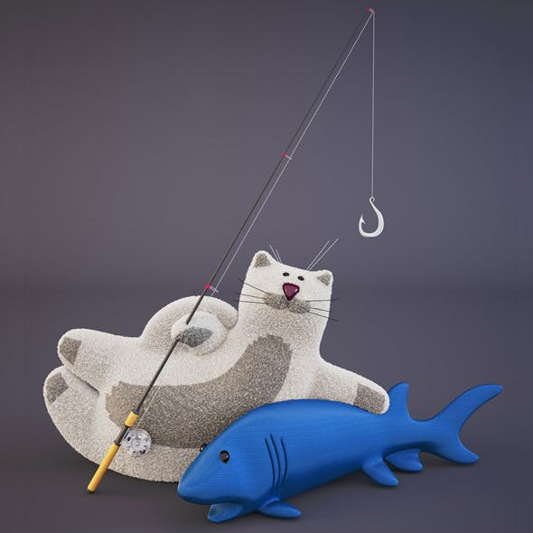 Cat and Fish Toys