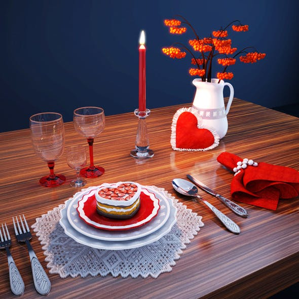 Table Setting - 3DOcean Item for Sale