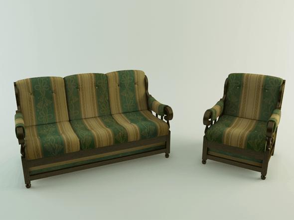 Realistic Sofa - 3DOcean Item for Sale