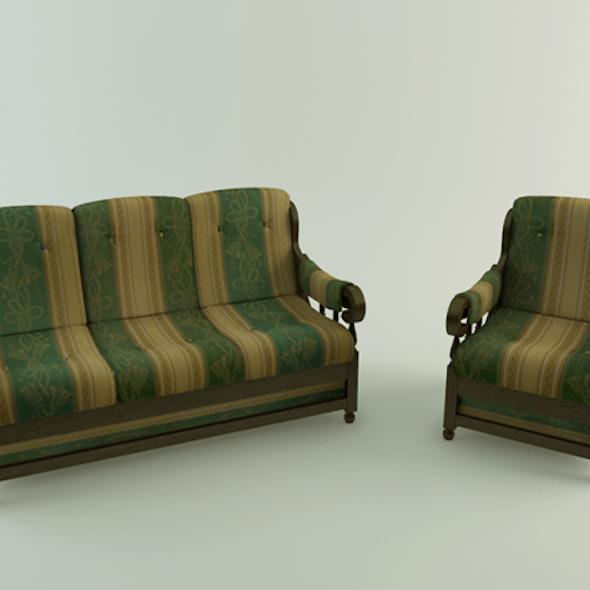 Realistic Sofa