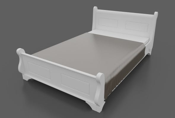 King Size Bed with Blanket Cover - 3DOcean Item for Sale