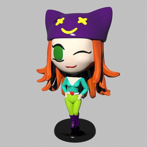 Chibi Girl - 3DOcean Item for Sale