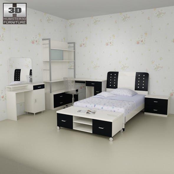 Nursery room furniture 06 Set - 3DOcean Item for Sale