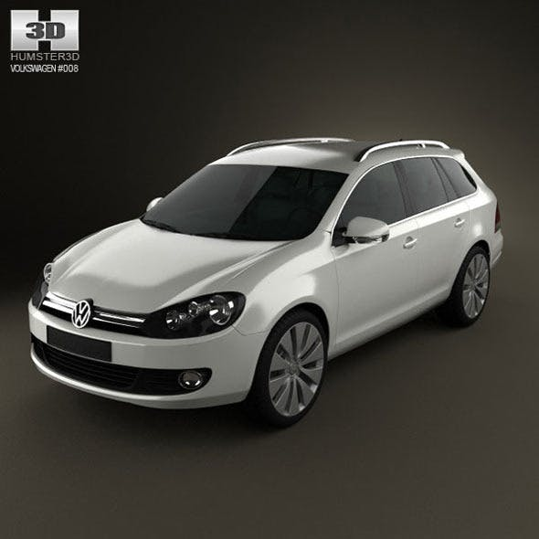 VolksWagen Golf Variant 2010  - 3DOcean Item for Sale