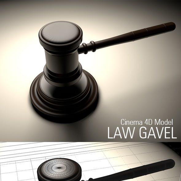 Law Gavel Model