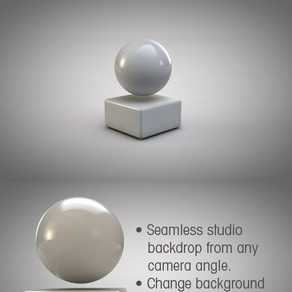 Infinite Backdrop Studio + HDRI image