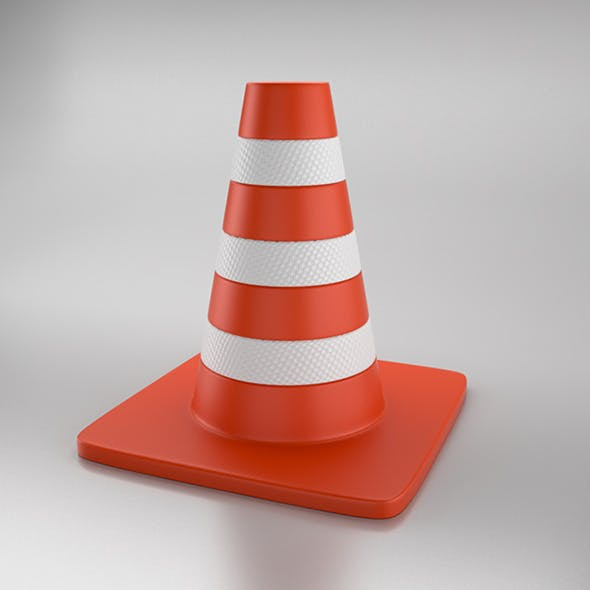 Cone of Road - 3DOcean Item for Sale