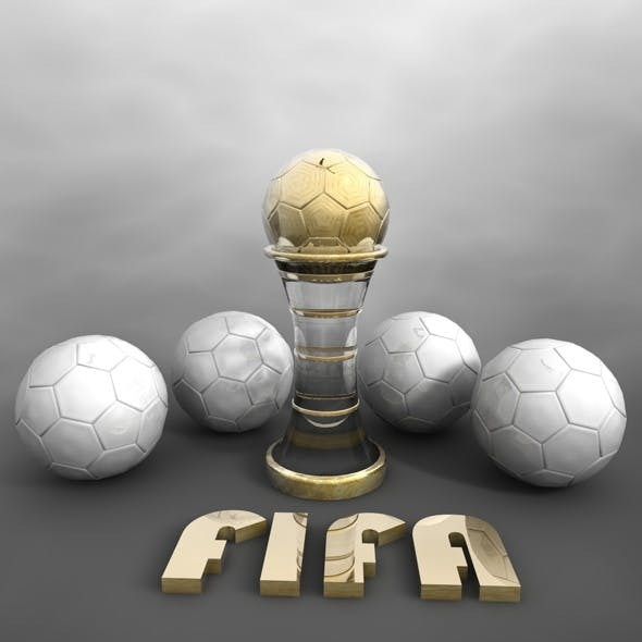 Soccer Trophy & Ball - 3DOcean Item for Sale