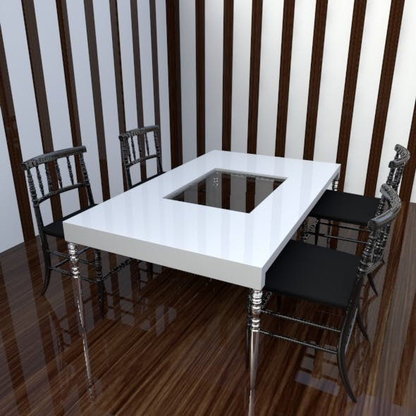 Realistic Chair & Table