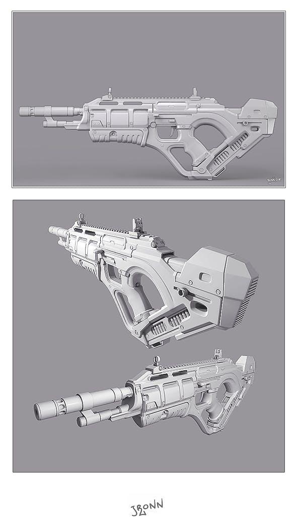 Futuristic Rifle - 3DOcean Item for Sale