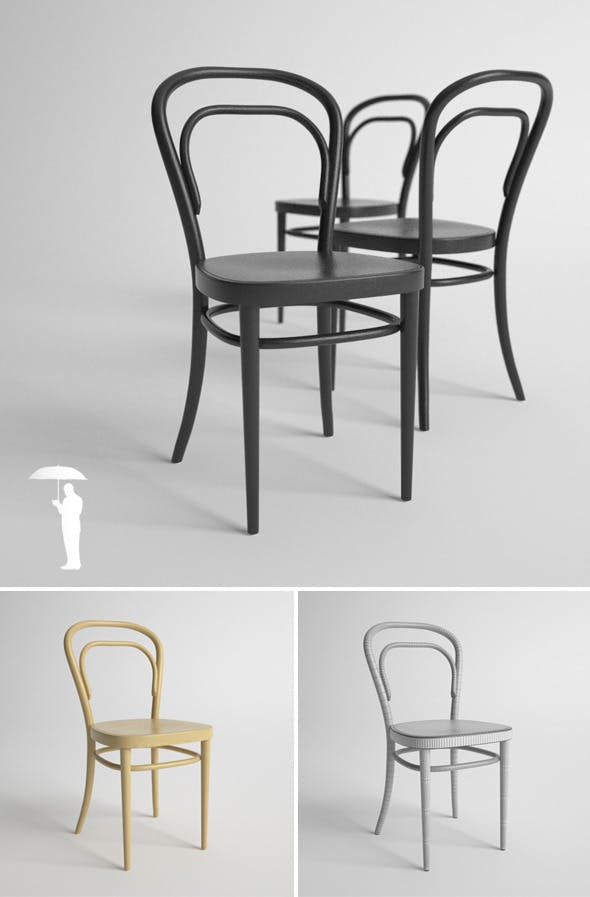 Thonet 214 - 3DOcean Item for Sale