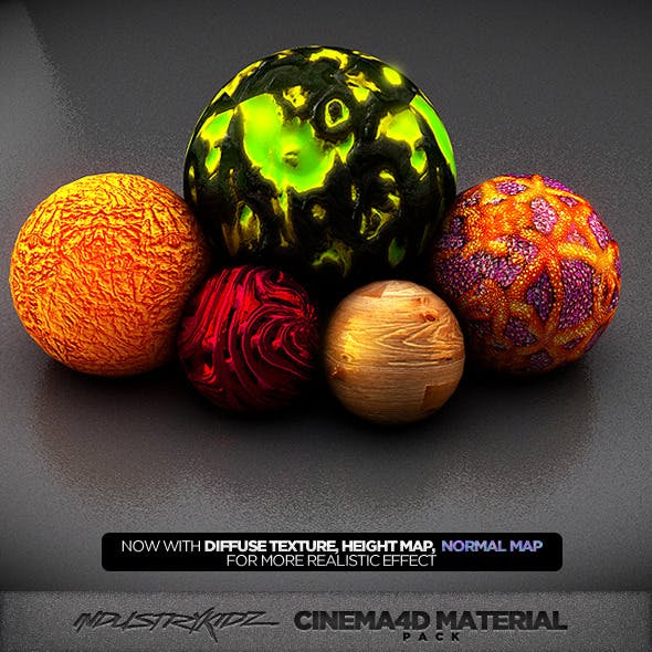 Cinema 4d Material pack V2