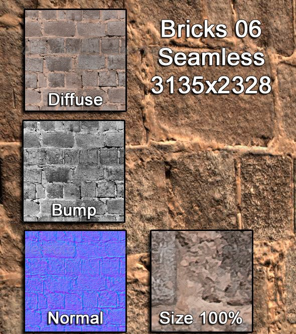 Bricks 06 Tileable - 3DOcean Item for Sale