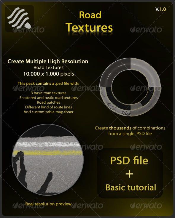 Road Textures - 3DOcean Item for Sale