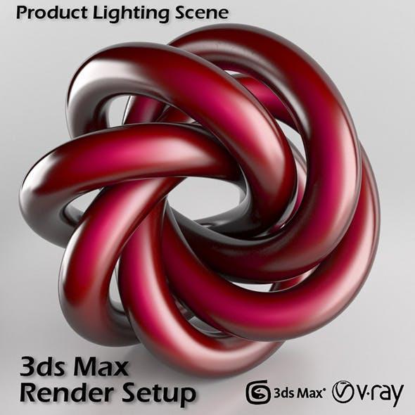 Studio Scene Setup for 3ds Max & V-Ray