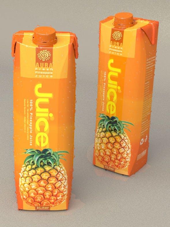 1 Liter Carton Packaging - 3DOcean Item for Sale