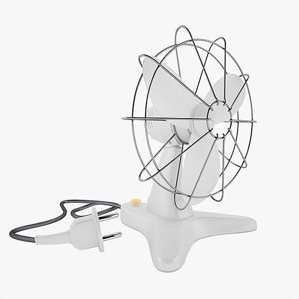 Retro Plastic Fan with Render Setup - 3DOcean Item for Sale
