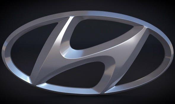 Hyundai Logo - 3DOcean Item for Sale
