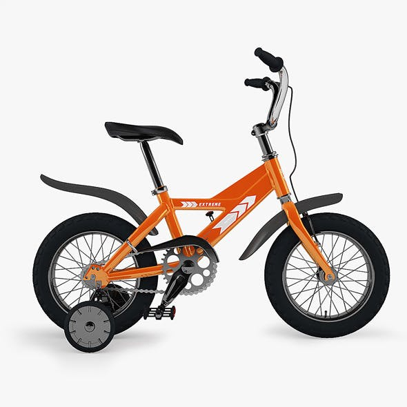 Kid's Bike with Render Setup - 3DOcean Item for Sale