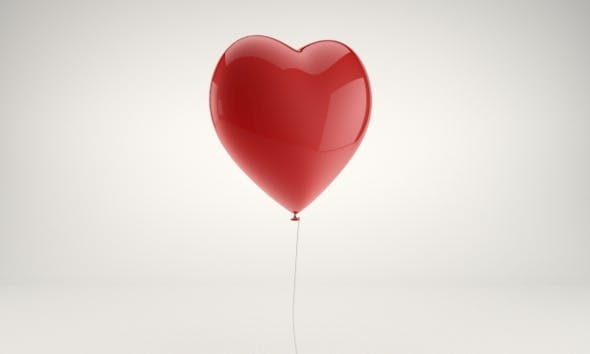Heart shaped balloon - 3DOcean Item for Sale