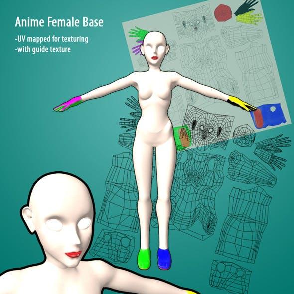 Anime Female Base - 3DOcean Item for Sale