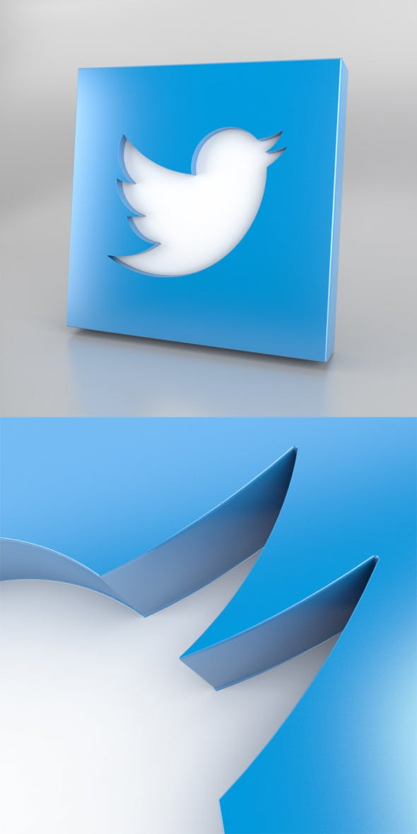 Twitter Icon Logo - 3DOcean Item for Sale