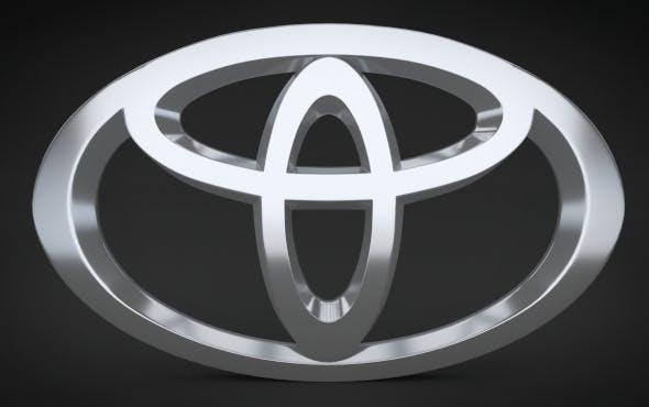 Toyota Logo - 3DOcean Item for Sale