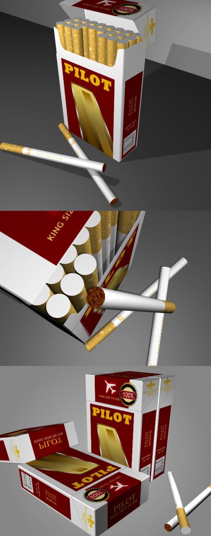 Cigarette Packaging - 3DOcean Item for Sale