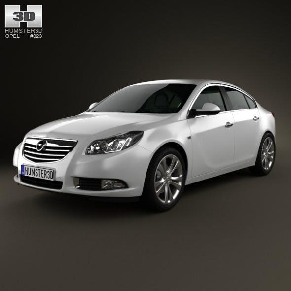 Opel Insignia hatchback 2012 - 3DOcean Item for Sale