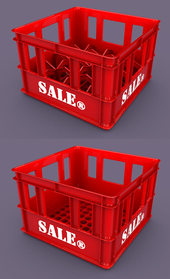 3D Plastic Beer Box Mold / Plastic Storage Box Mol - 3DOcean Item for Sale
