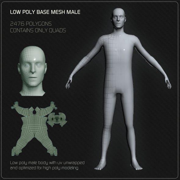 Low Poly Base Mesh Male