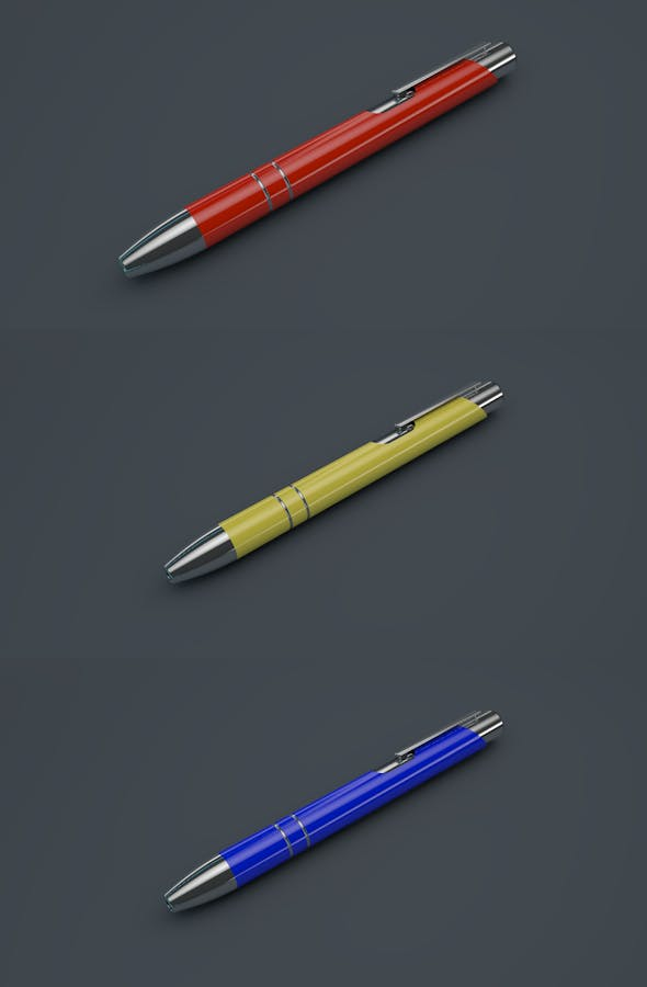 Modern, Stylistic Pen - 3DOcean Item for Sale