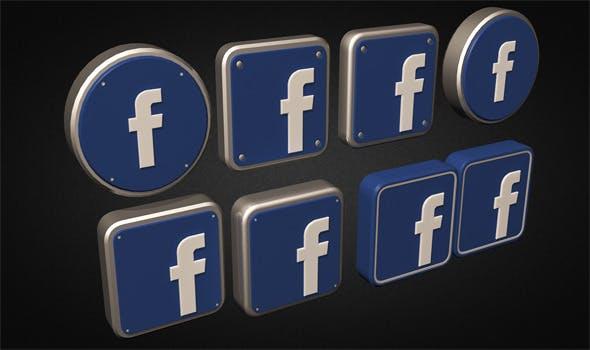 Facebook Logo Collection - 3DOcean Item for Sale
