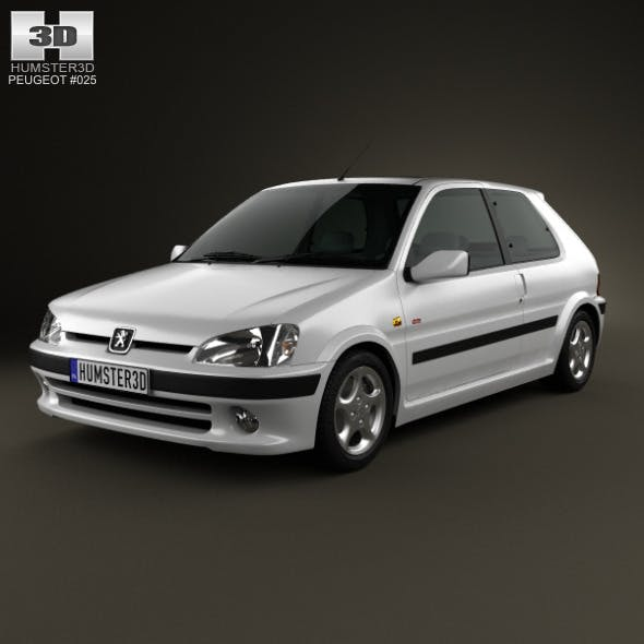 Peugeot 106 GTI 3-door 1997 - 3DOcean Item for Sale