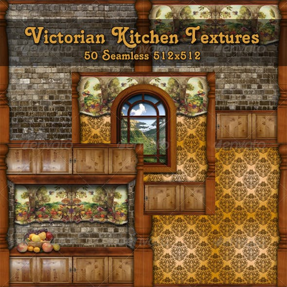 Victorian Kitchen Textures Pack
