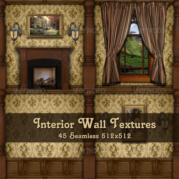 Interior Wall Textures - Tan - 3DOcean Item for Sale