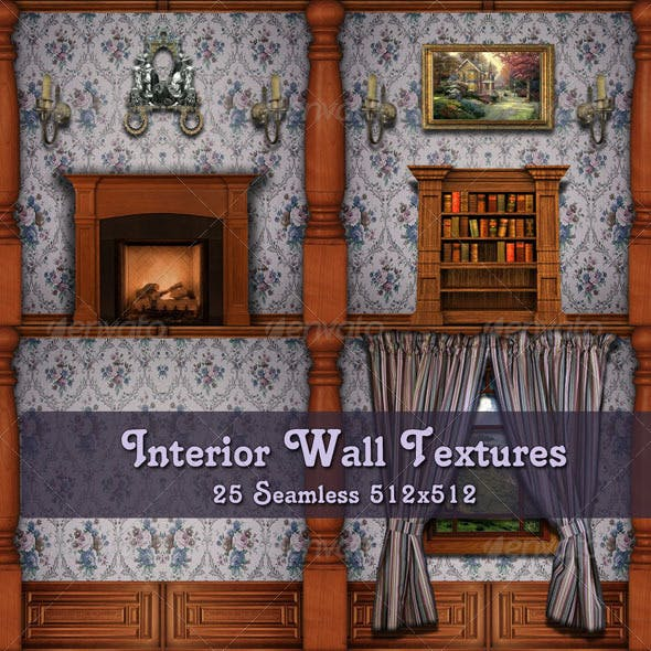 Interior Wall Textures - Set B - 3DOcean Item for Sale