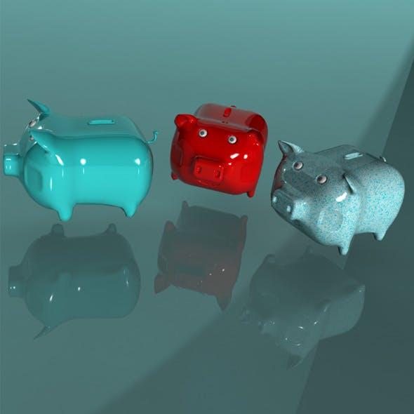 Piggy Bank - 3DOcean Item for Sale