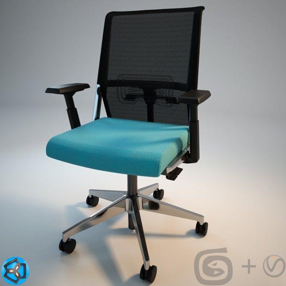 "Haworth ""System59"" Chair  +Scene+Materials"