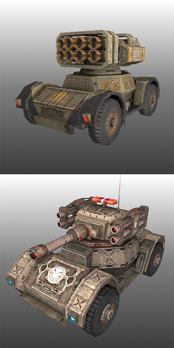 Low Poly Tank Pack - 3DOcean Item for Sale