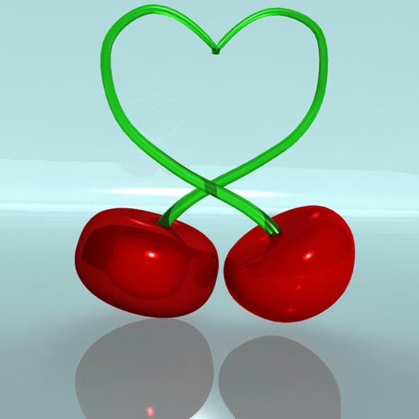 Cherries-heart - 3DOcean Item for Sale