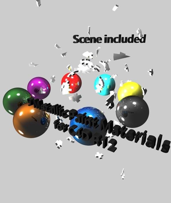 9 Metallic Paint materials for C4D R12 - 3DOcean Item for Sale