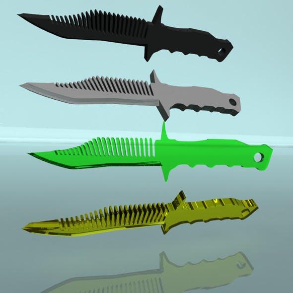 Knife-comb - 3DOcean Item for Sale
