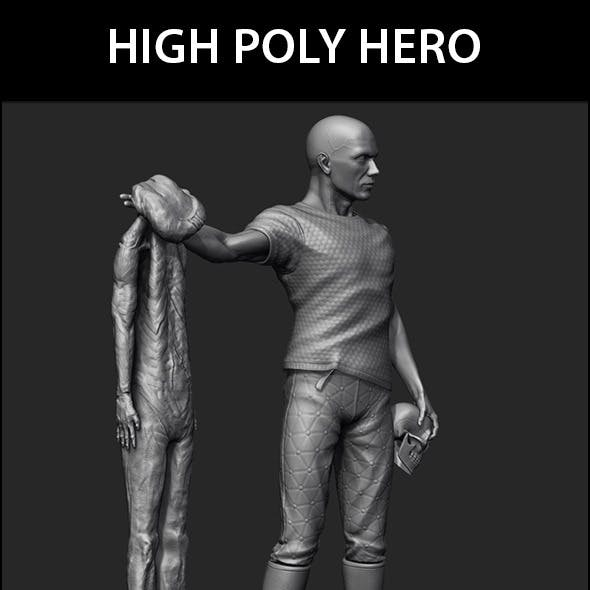 High Poly Hero