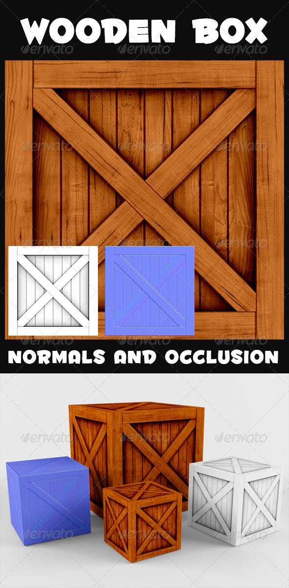 Wooden Box Textures - 3DOcean Item for Sale