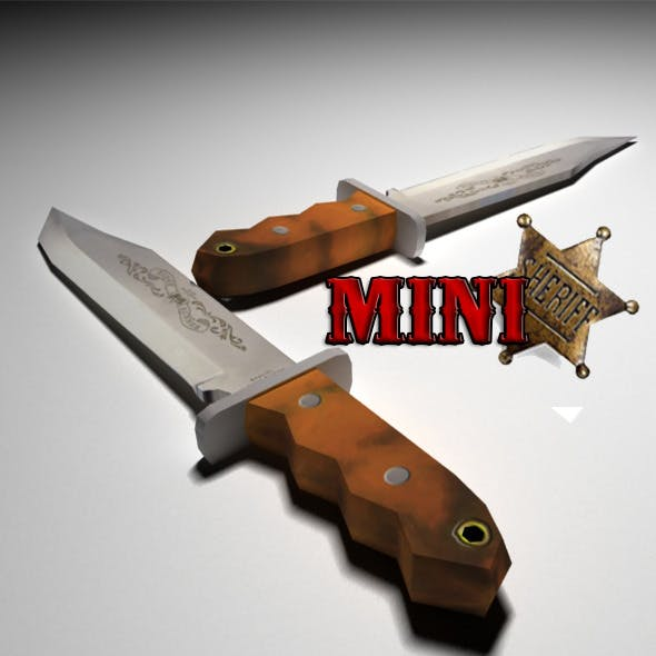 Low Poly Bowie Knife - 3DOcean Item for Sale