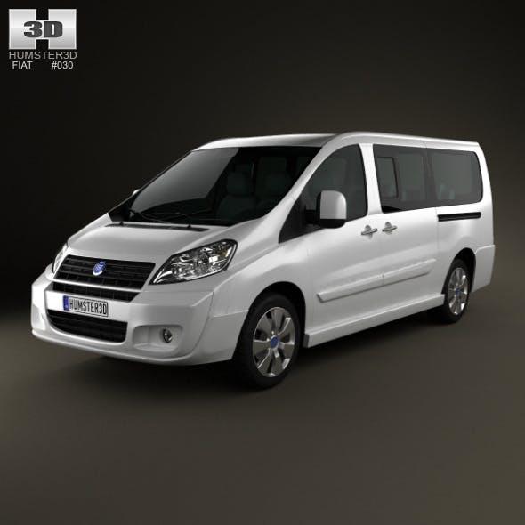 Fiat Scudo Combi L2H1 2011 - 3DOcean Item for Sale