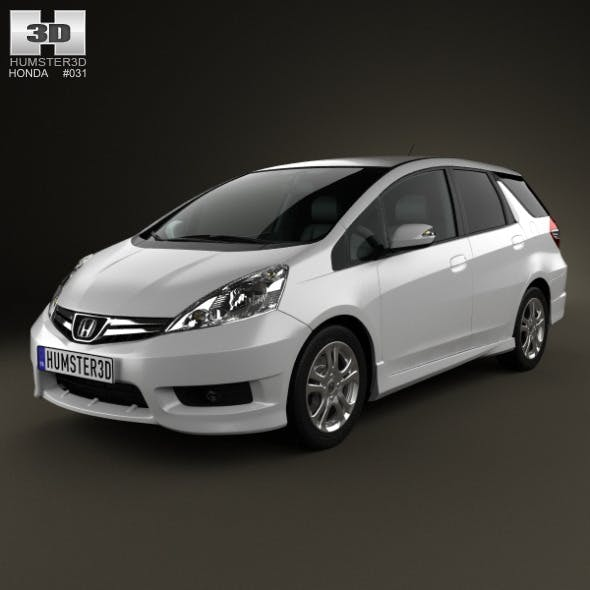 Honda Fit (Jazz) Shuttle 2012 - 3DOcean Item for Sale