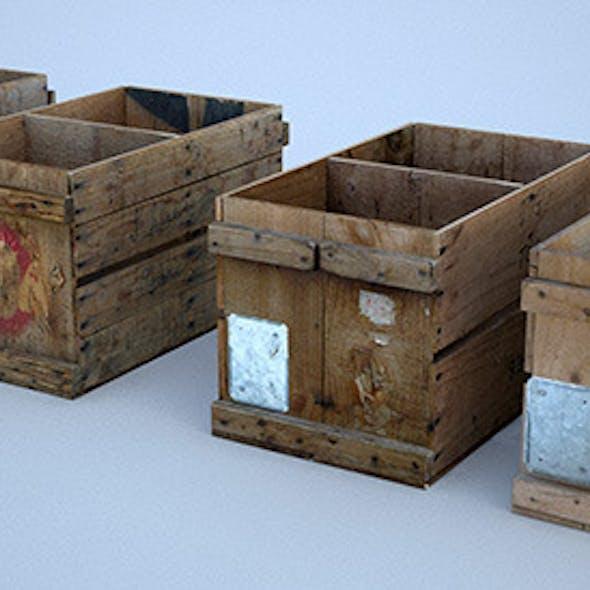 4 Vintage Wooden Crates