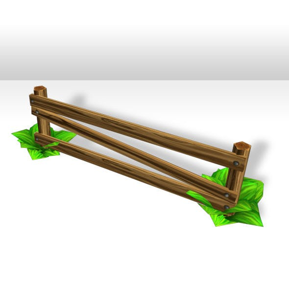 Wood Fence Low poly - 3DOcean Item for Sale